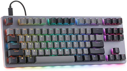 Massdrop CTRL Mechanical Keyboard — Tenkeyless TKL (87 Key) Gaming Keyboard, Hot-Swap Switches, Programmable Macros, RGB LED Backlighting, USB-C, Doubleshot PBT, Aluminum Frame (Cherry MX Blue RGB)