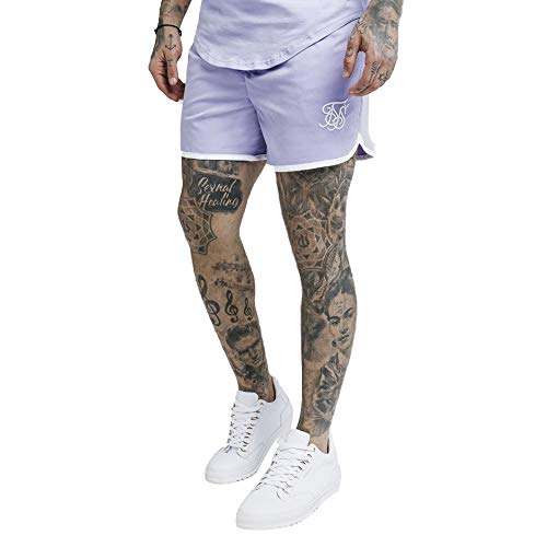 Siksilk Standard Bound Swim Shorts - Grape, X-Small