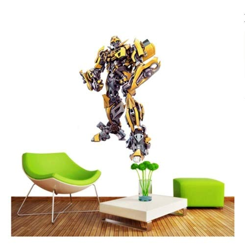 WXQIANG 3D Wandaufkleber Aufkleber Surper Held Bumblebee Transformers Roboter Optimus Prime Anime Tapeten Tapeten dekorative Selbstklebende Chilsren-Raum-Wand-Dekor 60x40cm (Color : G)