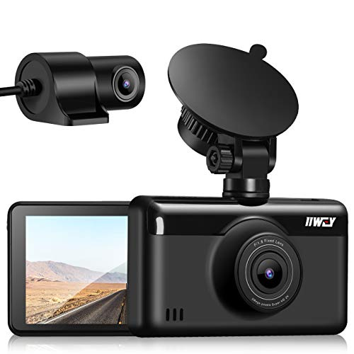 Dash Cam Front and Rear 1440P & 1080P (Single Front 1440P), Built-in GPS WiFi Dash Cam, 3 Inch IPS Touch Screen Dash Camera for Cars, Dashboard Recorder with Night Vision, WDR, 24H Parking Monitor