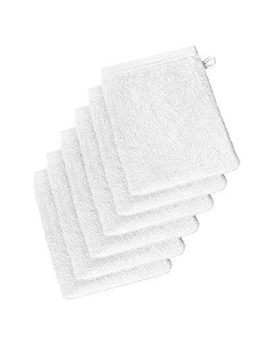 De Witte Lietaer 201445 Wellness Lot de 6 Gants de Toilette Coton Blanc 15 x 22 cm