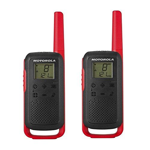 Motorola Talkabout T62 PMR-Funkgeräte (2er Set, PMR446, 16 Kanäle und 121 Codes, Reichweite 8 km) rot