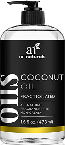 ArtNaturals Fractionated Coconut Oil 16 oz 100% Natural y Puro - Mejor Aceite de Carrier / Massage ArtNaturals Fractionated Coconut Oil 16 oz 100% Natural & Pure - Best Carrier / Massage Oil