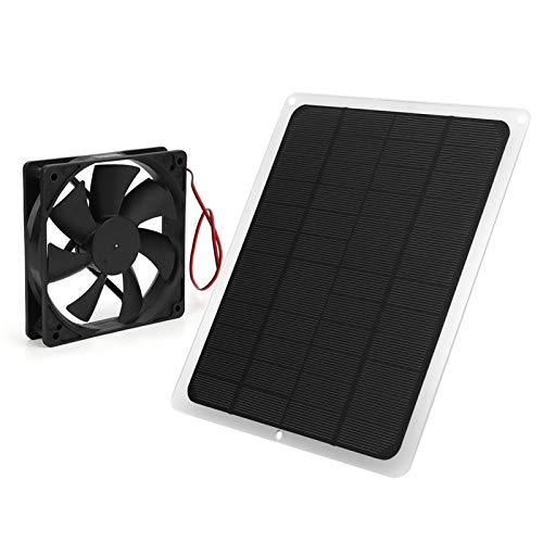 DAUERHAFT Placa Solar de Salida USB de 5V 10W P Placa de Carga Solar de Carga máxima efectiva con Ventilador de Escape