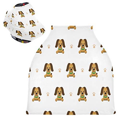 Sinestour Fundas de asiento de coche para bebé, diseño de animales de dibujos animados, cubierta para carrito de la compra, toldo multiusos para asiento de coche, regalo para niños y niñas