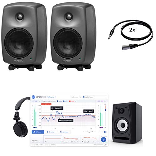 Genelec 8030C (x2) + Monitor Calibration, Stands and Cables