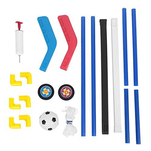 VGEBY Ziele Kombination Spielzeug, 2 in 1 Eishockey Fu?b?lle Spiel Spielzeug mit Pumpe f¨¹r Kinder Jungs Indoor Outdoor Sports Game
