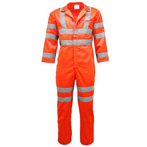HS WorkwearHigh Vis - Traje de caldera para hombre, de alta visibilidad, reflectante, para hombre, de clase 3 EN471 y GO/RT 3279 (tamaño mediano)