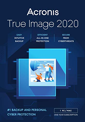 Acronis True Image 2020 | Premium | 1 PC/Mac | 1 Jahr | Cyber Protection-Lösung für Privatanwender| Integriertes Backup und Virenschutz mit 1 TB Cloud Storage | iOS/Android | Box-Version