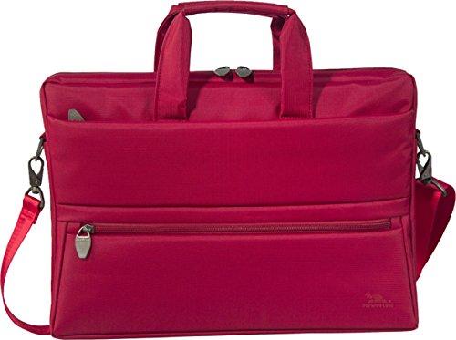 """RIVACASE Laptoptasche für Geräte bis 15.6"""" - Stilvolle Tasche mit viel Stauraum & großartigen Design - Rot"""