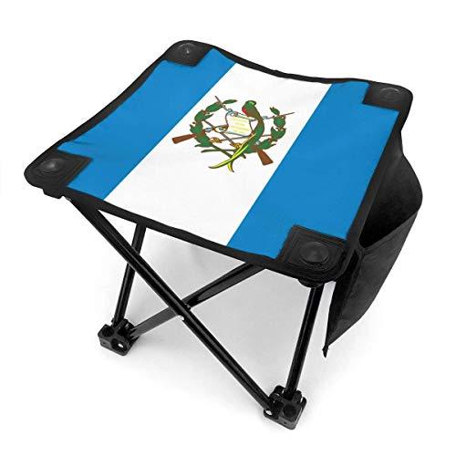 COMMER Taburete plegable con diseño de bandera de Guatemala con bolsa de transporte, para pesca, se