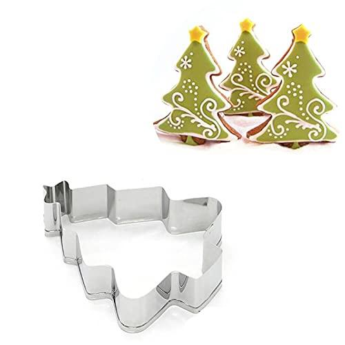 1 Stück Weihnachten Ausstecher Edelstahl Keksform Weihnachten Schneeflocke Lebkuchenmann Kuchenform Backwerkzeug