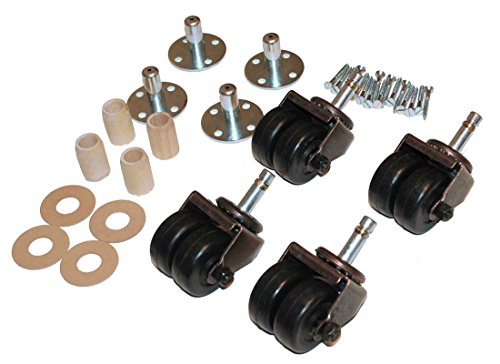 Upright Piano Wheels Casters - Set of 4 - Dual Rubber Wheels