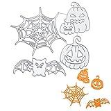troqueles Plantilla de corte murciélagos de calabaza tela de araña fantasmas plantillas de grabado en relieve troqueles para Halloween álbum de recortes tarjetas papel decoración manualidades
