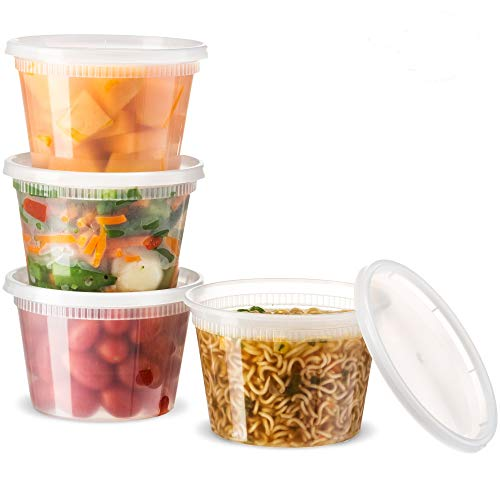Basix Deli Food Storage Container with Lids 16 Ounce Pack of 24 Deli Containers