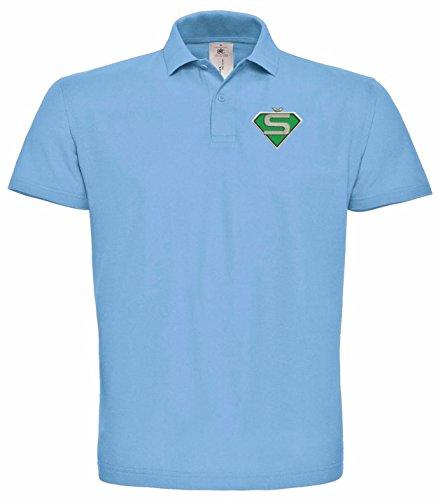 Skoda Superman Bestickte Poloshirt, super Premium-Qualität, 100% Baumwolle -026 -Blau (L)