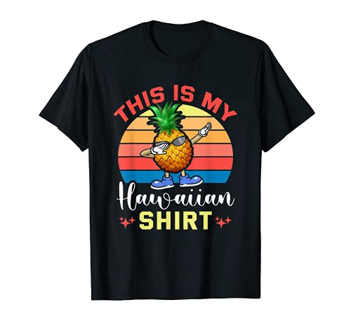 Pineapple Hawaiian Shirts Tropical T-Shirt