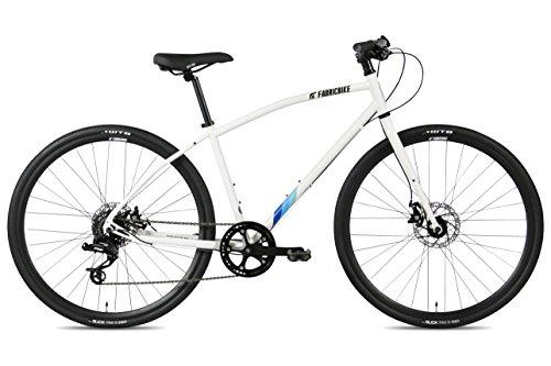 FabricBike Cycles Herren Commuter Hybrid Fahrrad Straßen-/Stadtfahrrad, Sram 8 Gänge, Tektro Mechanische Scheibenbremsen (Space White, M-45cm)
