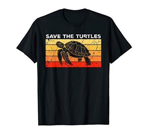 Save The Turtles Geschenk für Schildkröten Liebhaber T-Shirt
