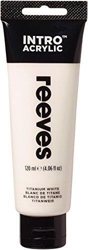Reeves - Pintura acrílica Reeves Intro - 120 ml, Blanco de Titanio