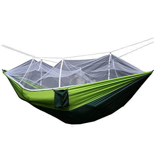 KNJF Portable Double Camping Hammock Hammock Outdoor Double Portable Light Rotary Swing with Carabiner