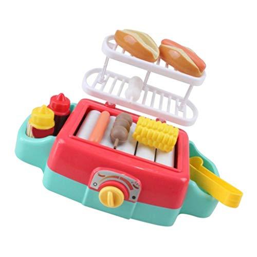 SM SunniMix Simulation Küchengerät Kinder Rollenspiel Spielzeug Tischgrill mit Licht