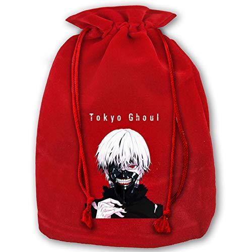 IUBBKI Tokyo Ghoul Gift Bags,Christmas Decorations Beam Mouth Gift Bag Santa Bags for Kids Storage Bag