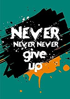 VVWV Never Give Up Motivational Quotes Posters Inspirational Office Decorative Wall Art Bedroom Living Room Home Decoratio...