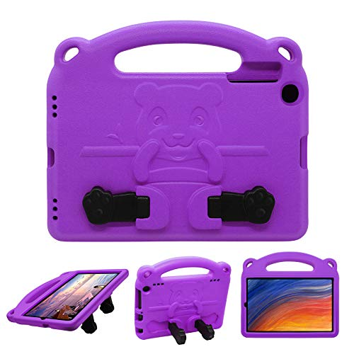 Kids Case Kid-Friendly Shockproof for Samsung Galaxy Tab A 8'(T290/T295), Light-Weight EVA Soft Foam Durable Rugged Abrasive Non-Slip Surface Handgrip Foldable Kickstand Sleevefor Child - Purple