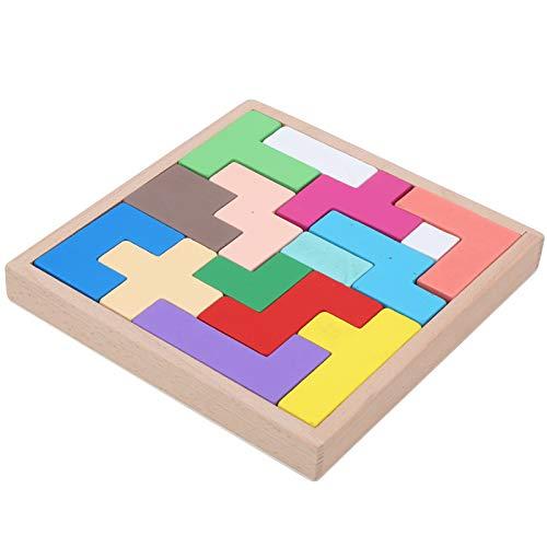 Apilador de reconocimiento de color firme, juguete de bloques de construcción, colorido 15 piezas/juego para niños pequeños mayores de 3 años niños y(Rubik's cube puzzle building blocks)