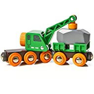 The clever crane wagon always gets the job done and with a retro orange and green design this crane can load the heavy boulder onto the waiting wagon hence now it's time to leave the quarry and get the load to it's destination so a ideal accessory to...