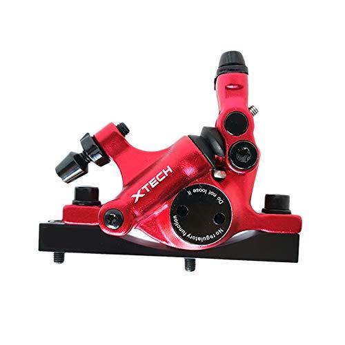 Coairrwy Kit de Adaptador de Freno HidráUlico de Scooter EléCtrico Piezas de PistóN de Aluminio para M365 Negro Rojo