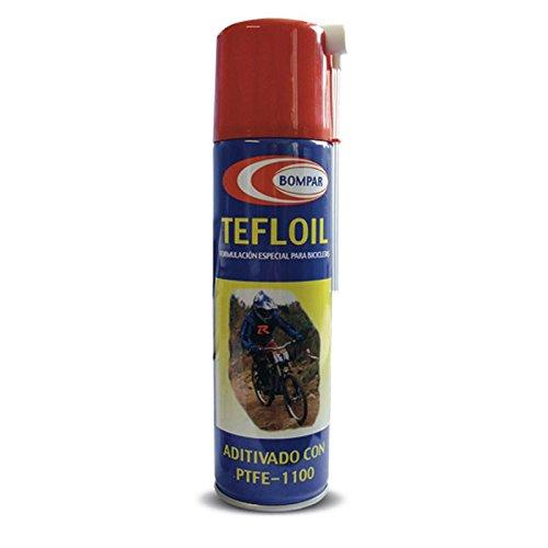 Lubricante Aceite con Teflon SPRAY 250 ml. – Aditivado con PTFE 1100 – Formulación Especial para Bicicletas, engrase todas las partes de la bicicleta