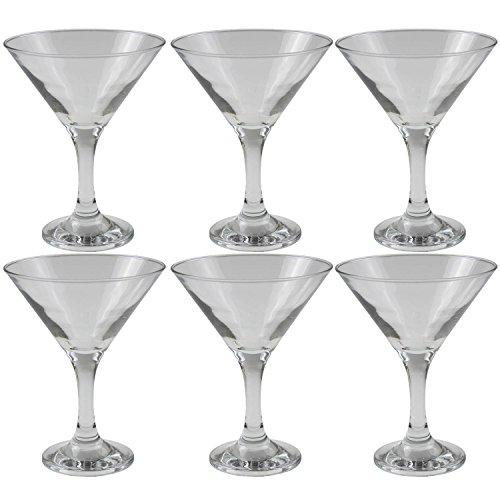 Juego 6 copas martini 190cc