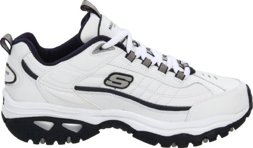Skechers Sport Men's Energy Afterburn Lace-Up Sneaker,White/Navy,8 XW US 4