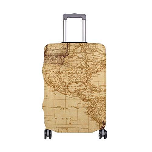 Funda protectora para equipaje de viaje, diseño retro de mapas de navegación,...