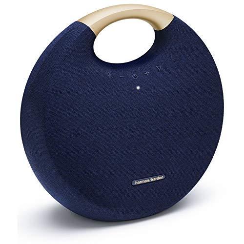 Harman Kardon Onyx Studio 6 - IPX7 Waterproof Wireless Bluetooth Speaker System w/Rechargeable Battery, Built-in Microphone (Blue) (Renewed)