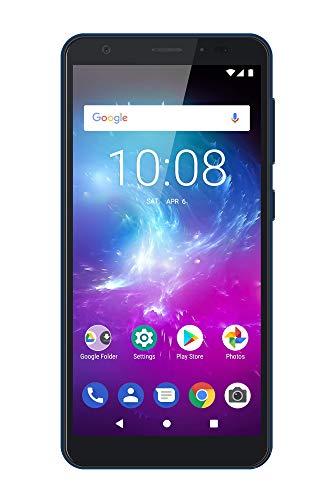 ZTE Blade A5 2019 - Smartphone de 5,5' HD+ 18:9 (Octa-Core A55, 2GB RAM + 16GB ROM, Cámara de 13 Mpx, doble SIM, Android 9 Go), Color Azul [versión española]
