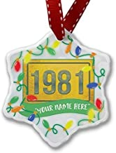 TIFA-LOVE Christmas Ornament Customize Your Name Birth Year 1981