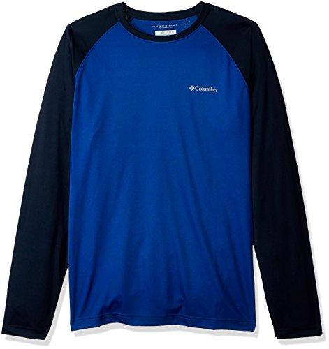 Columbia Herren Sunset Stream Long Sleeve Shirt Badehose, Azul, Collegiate Navy, Large