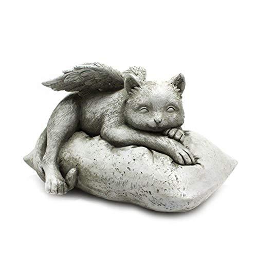 AUTUUCKEE Dog Angel Pet Memorial Grave Marker Tribute Statue, Pet Grave Markers, Gargoyle Statue, Dog Memorial Stone, Lápidas para tumbas (tamaño: gato)