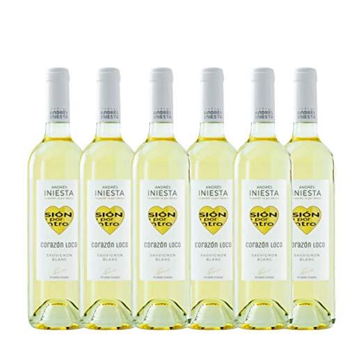 Vino blanco Corazón Loco Bodegas INIESTA | PACK 6 Botellas 75cl