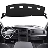 HanLanKa Dashboard Cover Dash Cover Mat Compatible with 2002-2005 Dodge Ram 1500,2003-2005 2500/3500(Ram 02-05, Black)