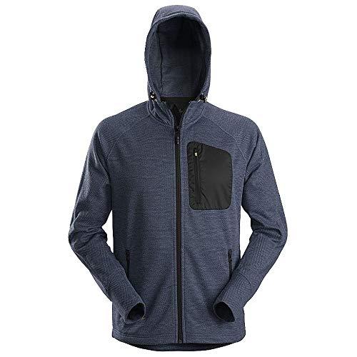 Snickers Mens Workwear Zip Through Fleece Hoodie Navy/Black 8041-2XL