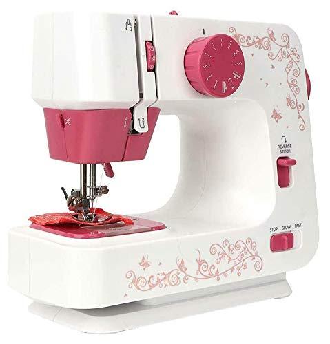 DBSCD Tragbare Nähmaschine, Quiltmaschinen für zu Hause, Mit 12 Zierstichen, Beste Nähmaschine für Anfänger