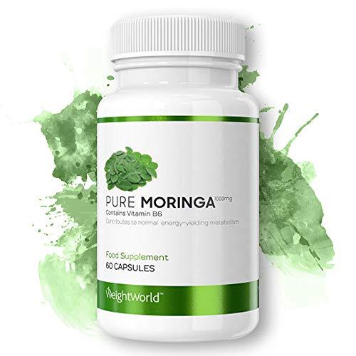 Moringa Capsule | Moringa 1000mg | Estratto Moringa Oleifera | 100% Naturale | Integratore DImagrante | Antiossidante | Risveglia il Metabolismo | Confezione 60 Capsule