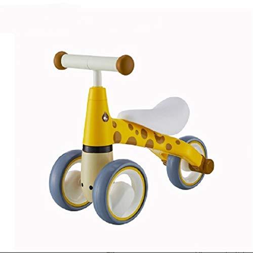 Luoshan Trotteur Balance Voiture sans pédales bébé Sliding Walker 1-3 Ans Enfants Diapo Voiture (Jaune) (Color : Yellow)
