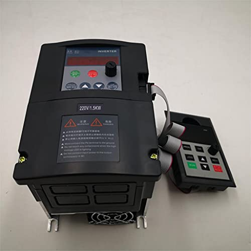 SIMNO JIAHONG VFD Inverter ZW-S2B Serie 1.5kw / 2.2kw Entrada monofásica 220V y Motor de Tres Fases con Cable de 2 m y Panel Exterior (Color : 1.5KW 220V)