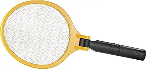 infactory Fliegenfänger: Elektrische Fliegenklatsche mit klappbarem Griff (Elektronische Fliegenklatsche)