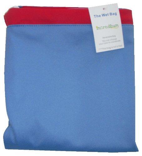 incredibum Large Wet bag (ocean/firecracker) -NEW WITH ZIPPER